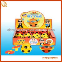 Funny romotional item led spinning top plastic top football spinning top with light and music SP1337069-B