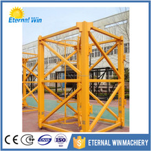Hot sale stain steel chip mast section tower crane from Henan