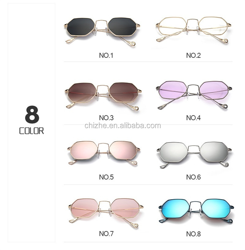 2017 New style ladies funky sunglasses custom metal logo with engraved