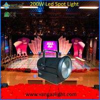 VanGaa Spot Light Fresnel 200W Led Lens Light with Barn doors