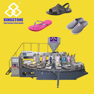 Rotary 1/2 Color PVC/PCU Shoes Air Blowing Moulding Machine JL-108