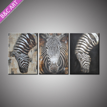 Home Decoration Modern Abstract Canvas Art Zebra Oil Painting