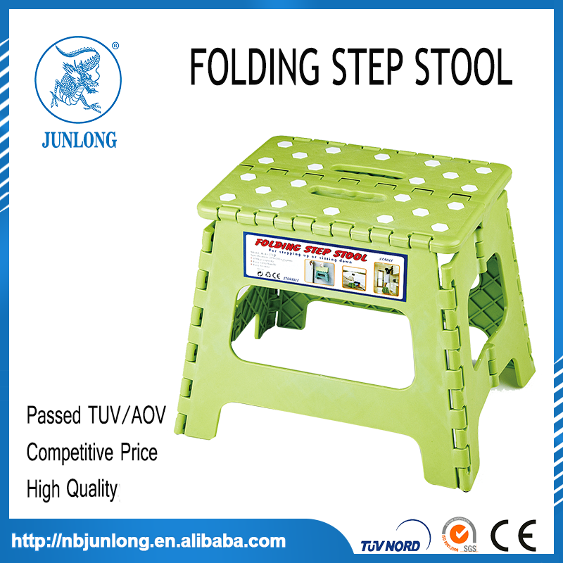 Green and white 11 Inches Folding Step Stool
