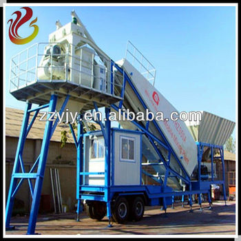 Easy Moving YHZS75 Mobile Concrete Batching Plant