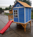 Wooden kids cubby house