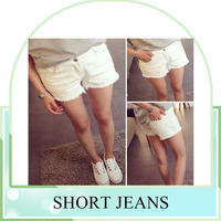 hot sell new summer design hot pants short jeans for ladies
