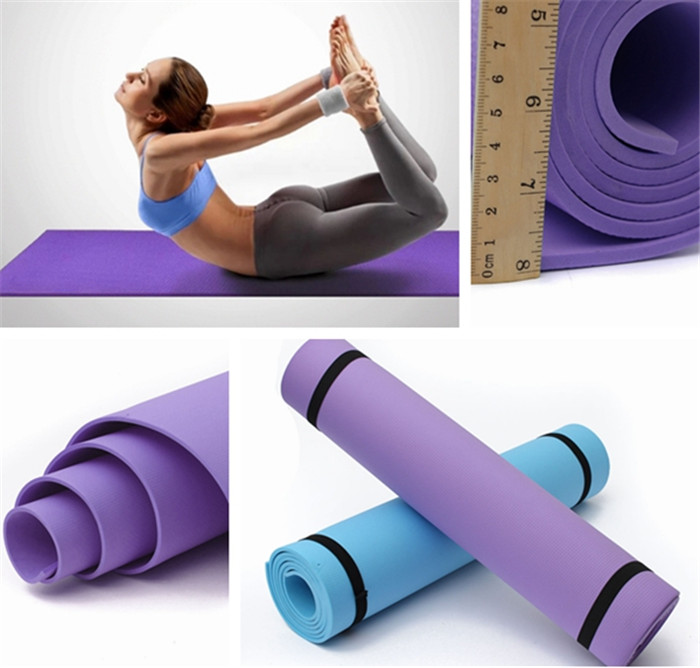 Professional 6mm Non-Slip PVC Yoga Mats Cushion Lose Weight Body Building Fitness Gymnastics Exercise Mats for Sale
