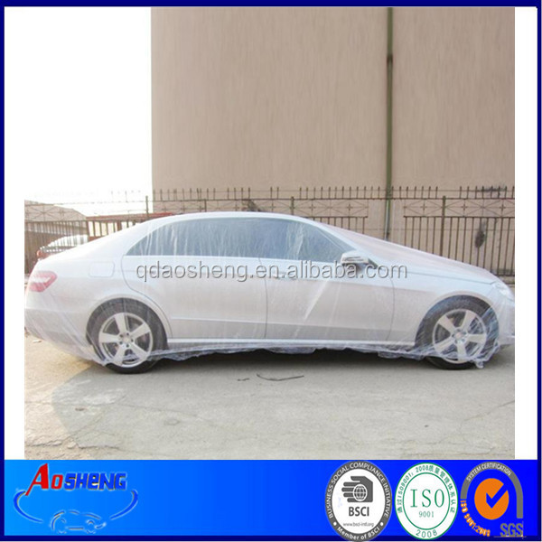 PE disposable car dust cover