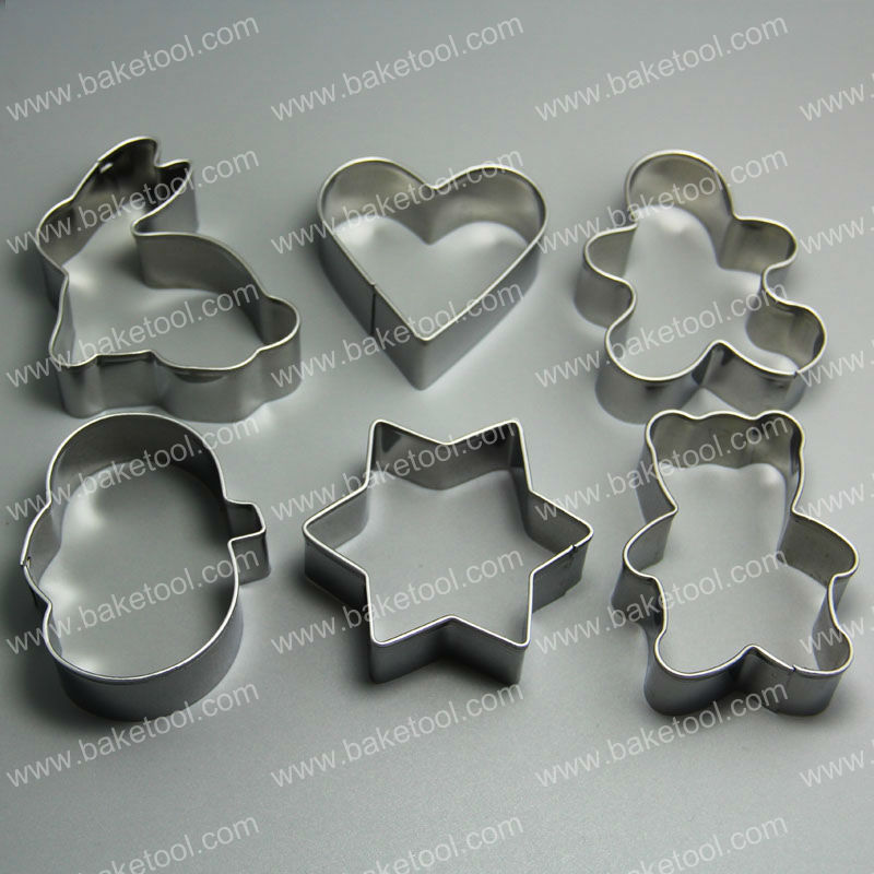 6pcs Easter Stainless Steel Cookie Cutter,Metal cookie cutter