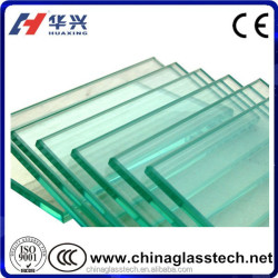 CE Certificate Commercial Building Glass Tempered 4-15mm Hurricane Resistance for Sunroom