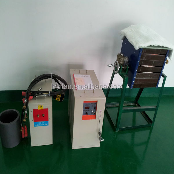 50kgs IGBT Gold Smelting Equipment, Gold Induction Melting Furnace for sale