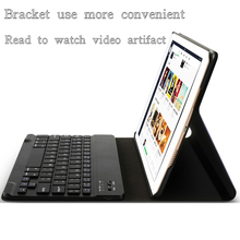 China Non soft dilp + flocking design Smart pu leather bluetooth keyboard tablet cover for Apple iPad mini123 4for apple air1/2