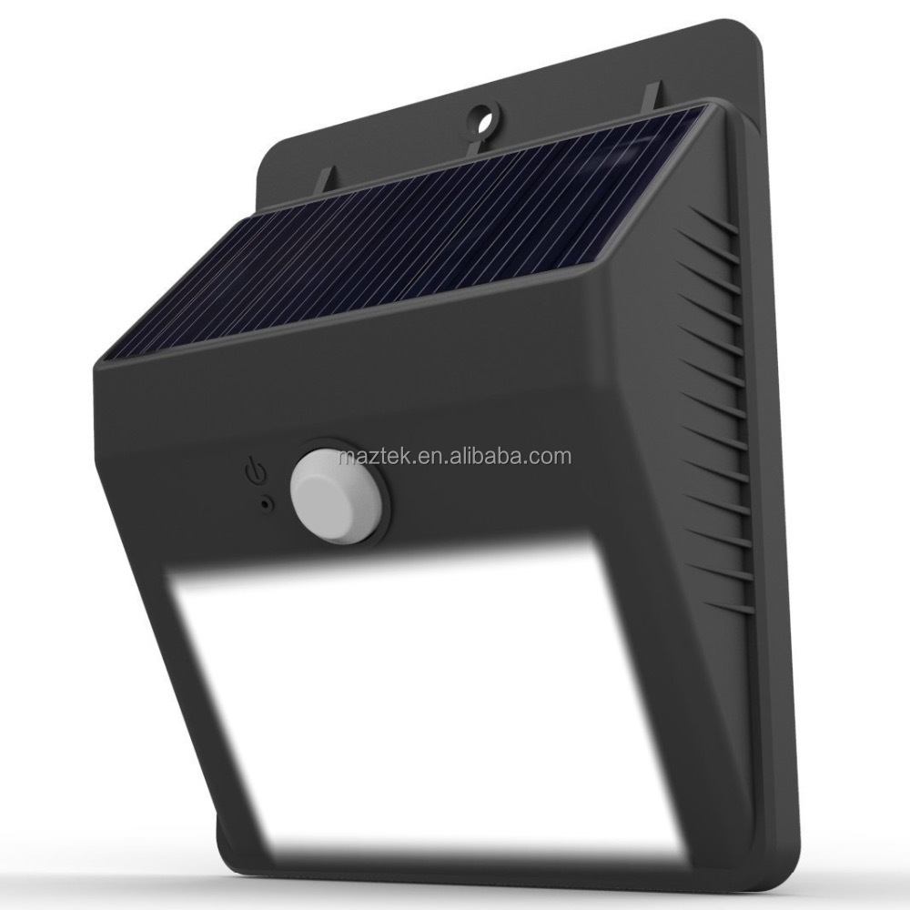 Solar power outdoor LED light no tools required peel and stick motion activated
