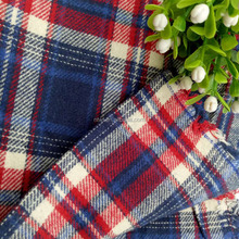 Factory wholesale !! 100% cotton yarn dyed twill checked fabric for school uniform