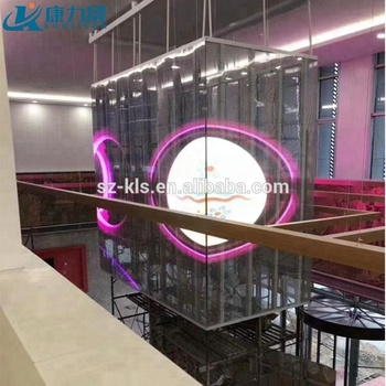 Indoor transparent led display screen | p10 led display curtain | outdoor full color led tv advertising display