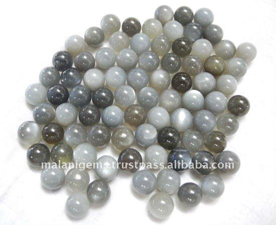 Moonstone Grey Round Smooth Balls Loose Stone