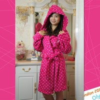 Winter Dressing Home Thermal Super Soft Hooded Robe