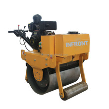 Small vibratory walk-behind single drum road roller vibrator mini compactor from China rollers for sale
