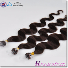 New Arrival Fusion Human Hair Extensions red micro beads hair extension
