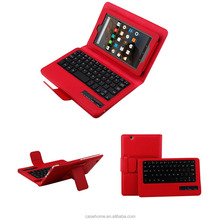 Leather table case with wireless bluetooth keyboard for Amazon kindle Fire 7