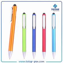 Personalized logo available Promotional OEM Logo Printed multifunction 4 in 1 metal stylus ball pen