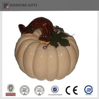 ceramic craft pumpkin for harvest deco