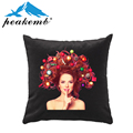 Top Selling Sublimation Heat Transfer Printed Herringbone Custom Design Throw Pillow Cover bag cloth