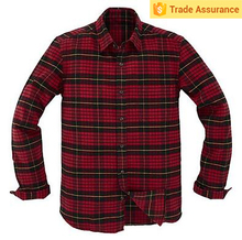 Mens Heavy Cotton Flannel Long Sleeve Shirts