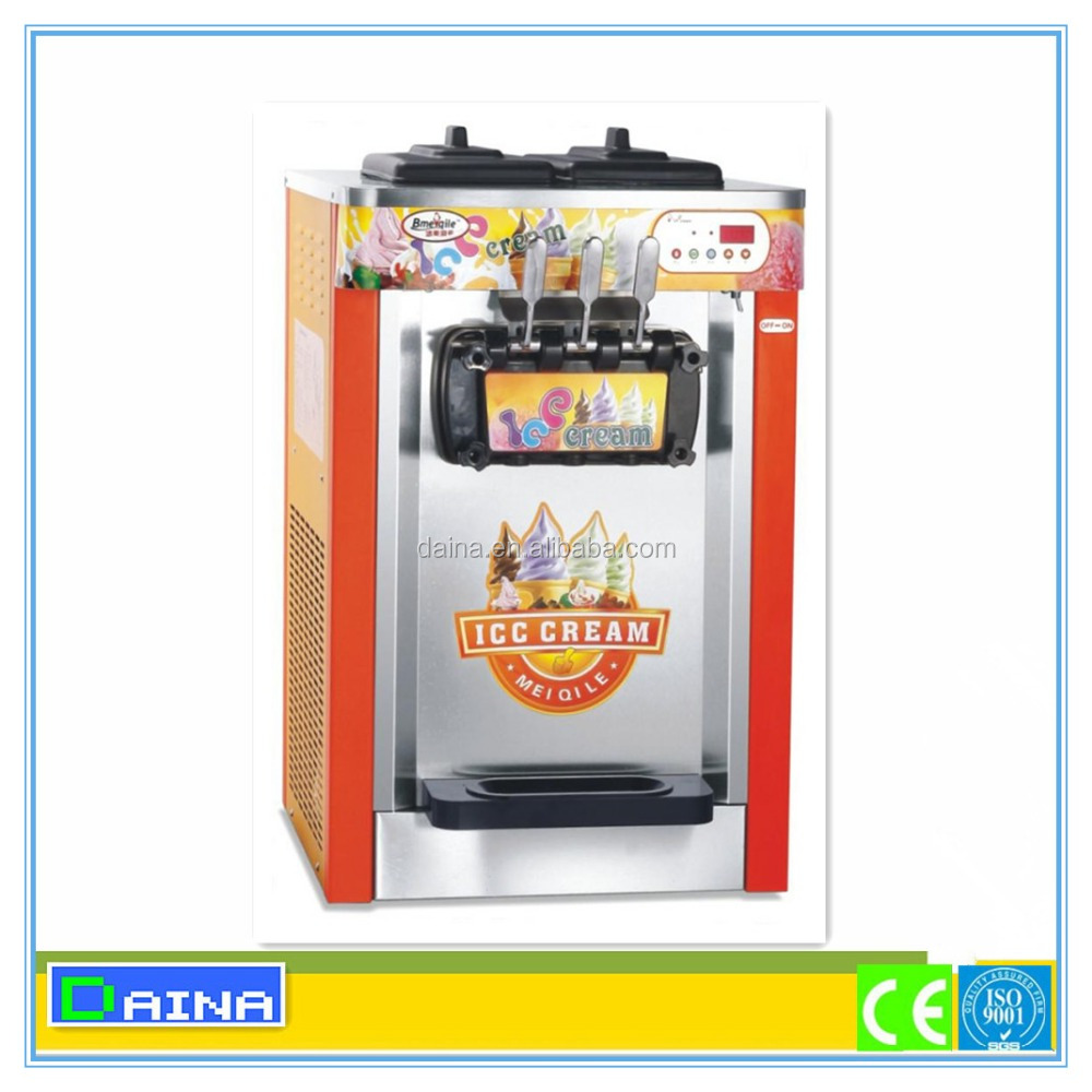 Trade assurance!!! hot products 3 Flavor Table Top Commercial Soft Ice Cream Machine for sale/ Ice cream machine