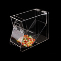 quality assurance transparent acrylic candy storage bin box