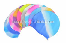 Rainbow Wholesale Low Price Customized Waterproof Silicone Adult Swimming Cap