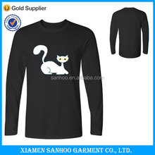 Wholesale Custom Logo Blank Tee Shirt Long Sleeve Winter Warm Wear