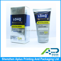 Customized shiny printed paper packaging box for skin care, personal care industrial use glossy paper packaging box