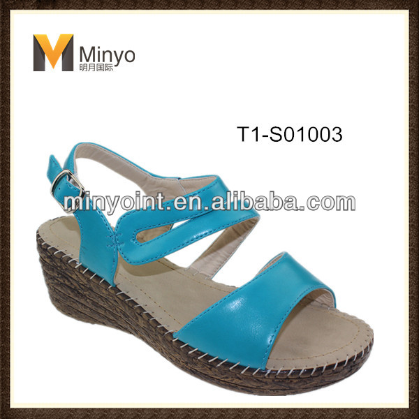 Minyo sexy wedge lady sandals free sample