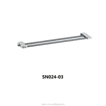 Unique Design Wall Mounted 304 Stainless Steel Bathroom Double Towel Holder Bar
