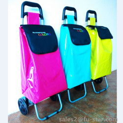 PN hot selling!!! 600D oxford shopping trolley polyester shopping bags promotional cheap folding shopping carts