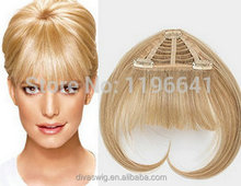 Clip in blonde virgin brazilian hair fringe hairpieces human hair bangs extension