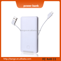 Emergency power supply 5000mah with Charging Cables for all phone / tablet