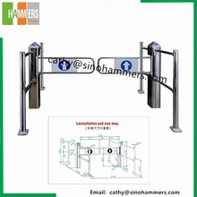 Full automatic bi-directional supermarket barrier swing turnstiles security gate