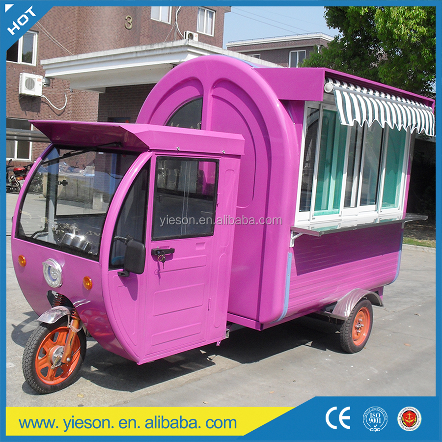 food truck for sale in malaysia, bike cart mobile shop truck hot dog tricycle electric food cart