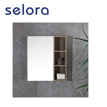 bathroom hardware large wall wooden wash basin mirror for makeup