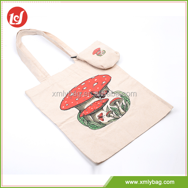 Appearance diverse recycle canvas foldable shopping bag