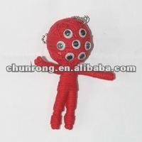 red handicraft fabric string voodoo doll names,little dolls