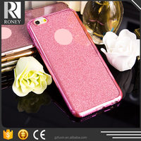 Best selling glittering bling electroplating cheap price but high quality soft tpu housing for iphone5s