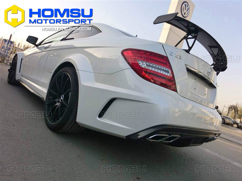 FRP auto parts complete conversion facelift merc c63 w204 black serie body kit for C200 C180 C300 coupe sale tuning