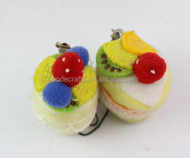 BD-9051 Hot selling Pop cake doughnuts promotion gift metal keychain Valentine day gift