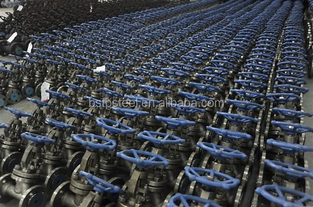 Cast steel forged WCB extension rod Gate valve ANSI a105 a216 API6D