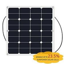 50W Flexible solar photovoltaic panel , sunpower solar panel with CE certificate