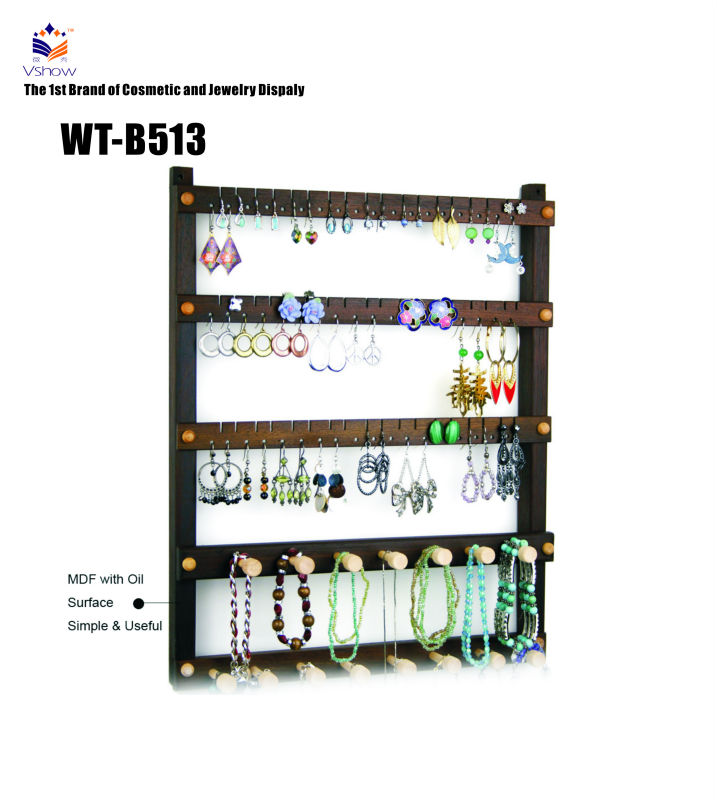 Latest jewelry rack wooden wall rack designs for earring