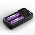 Top selling 2 bay Efest battery charger Efest LUC V2 lcd dual smart charger with car charger